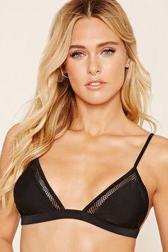 Mesh Triangle Bikini Top