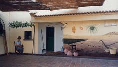Tradiciones. 1995. Esmaltes acríclicos. Mural en Restaurante-grill Yolanda (CruzdeTejeda).