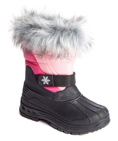 Loving this JANDS by Transco Pink & Fuchsia Faux Fur Snow Boot on #zulily! #zulilyfinds