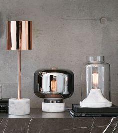 The Beacon Lighting Elk 1 light table lamp in copper.
