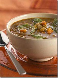 Lebanese Recipes, Lentil spinach soup, garlic, lemon juice, chopped, crush, cuisine, vegetable