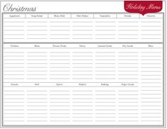 The Holiday Planner blog post, via TheProjectGirl, is full of downloadable PDF files to help organize your holiday feast/menus!