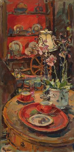 The Coffee Tray.  Susan Ryder RP NEAC | Panter & Hall