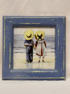 decoupage frame by Thoulie on Etsy