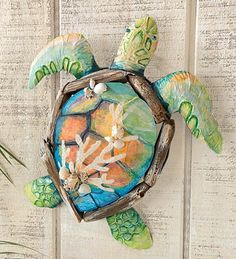Turtle Driftwood Wall Sculpture (from Wind & Weather)