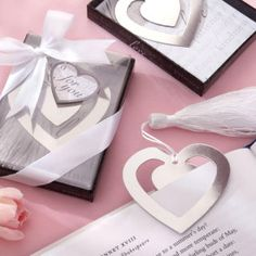 My two will-be bridemaids live on books. These adorable bookmark wedding favors would be perfect for them.