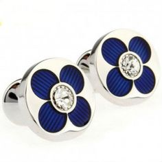 The Daisy Stainless is a whimsical addition to your cufflinks collection. These flower cufflinks are showcase subtle style in rich blue. | Mens Cufflinks - Cufflinks for Men #howmendress #menswear #mensfashion