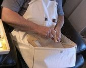 Medium Apron for Wood Carvers, Wood Workers, Artisans, Jewelers, etc... Keeps items off the floor and within easy reach.