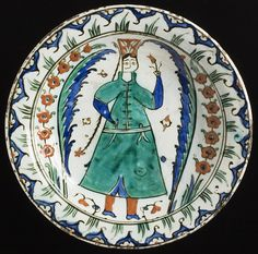 Turkey, Iznik  Dish, Ottoman Period, first half of 17th century  Ceramic, Fritware, underglaze painted, Height: 2 3/8 in. (6.03 cm); Diameter: 12 1/4 in. (31.12 cm)  Purchased with funds provided by Camilla Chandler Frost in honor of the museum's 40th anniversary (M.2005.185)