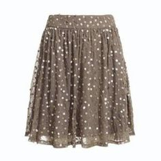 Sequin Mini Skirt  OK, I'm going to guess that for me it would just be a regular skirt...with my Welsh corgi legs and all.