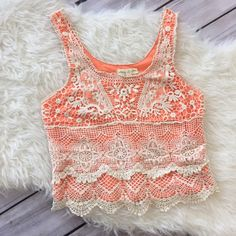 Adorable crochet tank! Perfect for a festival ☀️ Great condition. Small stain on lower front as shown in last picture. Purchased at Urban Outfitters! Staring at Stars Tops Tank Tops