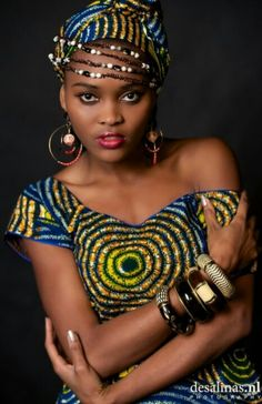 ♥African Fashion I want a head wrap like this!!! ~DKK ~African fashion, Ankara, kitenge, African women dresses, African prints, African men's fashion, Nigerian style, Ghanaian fashion.