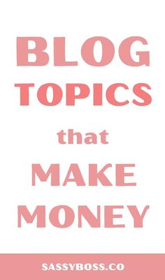 Blog Topics That Make Money - SEO Blog - Read the latest SEO trend and statistics #SEO #SEOBlog #blog - If you want to make money blogging you need to write about blog topics that make money. Read this post to find out what determines if a blog topic has potential as a money making blog topic and an epic list of trending topics right now! #blogtopicsthatmakemoney #blogtopics Make Money Blogging, Way To Make Money, Make Money Online, Best Blogging Sites, Blogging Niche, Saving Money, Make Blog, How To Start A Blog, How To Find Out