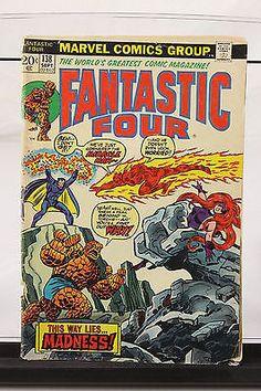 September 1973 Fantastic Four Marvel Comic Book #138 Miracle Man Origin