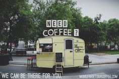 Mobile | Detour Coffee Coffee Shops, Coffee Van, Coffee Carts, Coffee Truck, Coffee Love, Foodtrucks Ideas, Mobile Coffee Shop, Coffee Trailer, Mobile Cafe