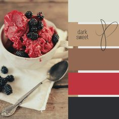 Lovely colour palette choices for home decor... love the dark sweet