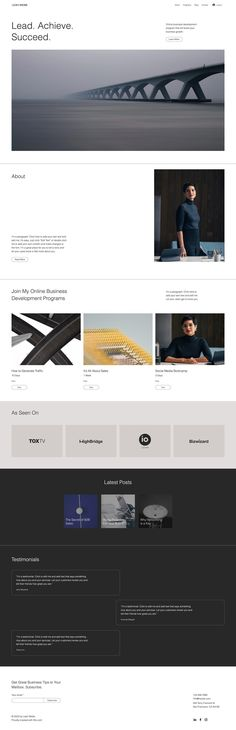 Wix Website Template | Business Consultant Website Template
