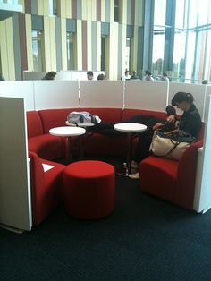 Love this study nook - Macquarie University Library