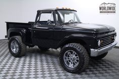 Sweet: 1963 FORD F-100 7.3L Diesel Conversion HOT ROD 4x4 Yet Needs 2 more inches Wheels have crowded look...