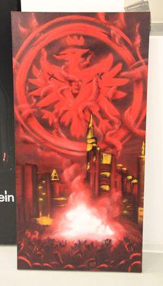 UF97 Canvas 2013 #dubiz #Custom #canvas #made #graffiti #name #graffitiart #kidsbedroom #wallart #interiordesign #interiorstyling #uf97