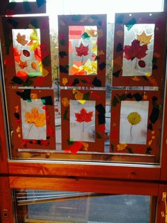 Crafts For Kids, Arts And Crafts, Leaf Art, Autumn Leaves, Gift Wrapping, Frame, Gifts, Beautiful, Home Decor