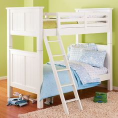 The Land of Nod | Kids' Bunk Beds: Kids Twin White Beadboard Bunk Bed in The McNeilly Family