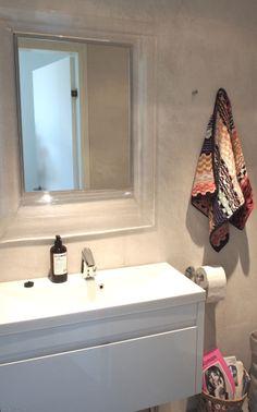 Painted bathroom wall