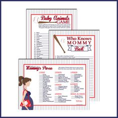 PRINTABLE Baby Shower Games for Baseball baby shower by LullabyLoo, $12.00 @Andrea Mason