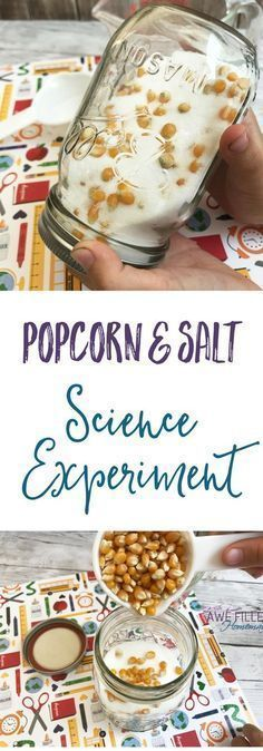 What happens to the popcorn and salt in this easy science experiment? This is so fun, and easy to do at home! Science can be fun, and frugal! via # Parenting activities Easy Popcorn & Salt Science Experiment With Directions Easy Science Experiments, Science Activities For Kids, Science Classroom, Science Lessons, Science Fun, Science Ideas, Stem Activities, Learning Activities, Summer Science