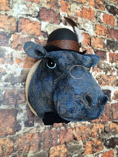 Xander Hippo Faux  Taxidermy  by SwankyEgg on Etsy, $200.00