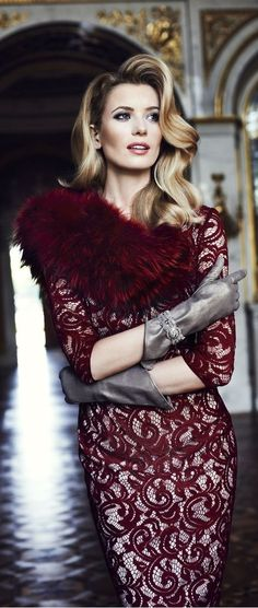 Caterina Leman A/W 2013/2014 ~ This has an old Hollywood Glam feeling!