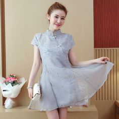 7888252cd 2017 New Arrival Chinese Tradition Mandarin Collar Maternity dresses Lace  Embroidery Cheong-sam clothes for