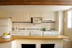Traditional White Kitchen Cabinets #38