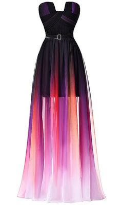 Ombre Long Prom Dresses,Strapless Chiffon Evening Dresses with Pleats Ombre Prom Dresses, Strapless Prom Dresses, Cute Prom Dresses, Chiffon Evening Dresses, Pretty Dresses, Beautiful Dresses, Lace Chiffon, Dress Prom, Rainbow Prom Dress