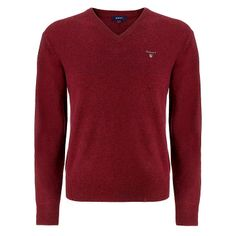 851f24a788c Gant Solid Lambswool V Neck Burgundy - was £85 NOW £70 with FREE UK  Delivery #Fashion #Gant #Mens #Menswear #Sale #Knitwear