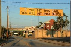 Very clever sign! | #signs #funny