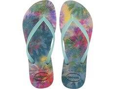 <p>The Slim Tie Dye is a modern take on the tie dye print in rich pinks and deep blues. A tonal logo on slim jelly straps complete this fun style. Comfort brought to you by our signature textured footbed.</p><ul><li>Thong style</li><li>Cushioned footbed with textured rice pattern and rubber flip flop sole</li><li>Made in Brazil</li></ul>