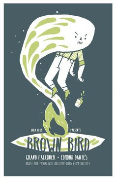 Think this one is by Jason LLoyd. Brown Bird, Illustration, Movie Posters, Hands, Art, Design, Art Background, Film Poster, Kunst