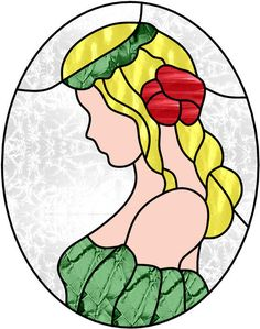 Irish Maiden Stained Glass