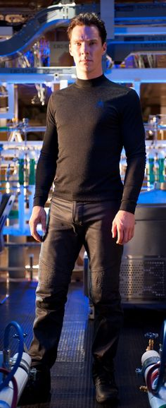 Star Trek Into Darkness Benedict Cumberbatch as Khan.  So many ridiculously good looking men in this movie!