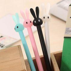 1 pcs New Cute rabbit gel pen writing pens stationery caneta material escolar office school supplies papelaria #shoes, #jewelry, #women, #men, #hats, #watches