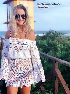 Crochet Jumpsuits, Knit Fashion, Womens Fashion, Knit Crochet, Crochet Stitches, Crochet Wedding, Western Wear, Crochet Clothes, Designing Women