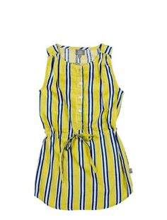 KIDSCASE CANDY STRIPED DRESS YELLOW | 1965 Kids