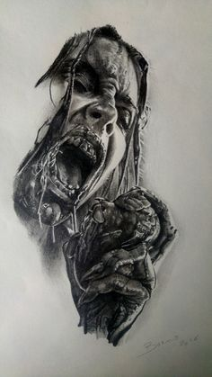 sketch zombie par stephane buenotatoueur studio black corner tattoo