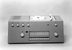 Braun AG Studio 1 record player and radio, designed by Hans Gugelot and  Herbert Lindinger, Germany 1956.