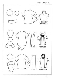 Bible characters pattern