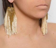 uncovet+ Dip Dyed Tassel Earrings