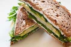 Spinach, Goat Cheese, Avocado and Apple Sandwich