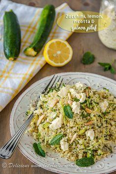 Zucchini and Lemon Quinoa Pilaf #recipe #vegetarian