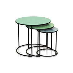 Buy the Green Green Studio Set of Three Nesting Side Tables at Oliver Bonas. We deliver Furniture throughout the UK within 5-12 working days from £35.